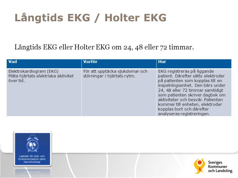 Långtids EKG / Holter EKG