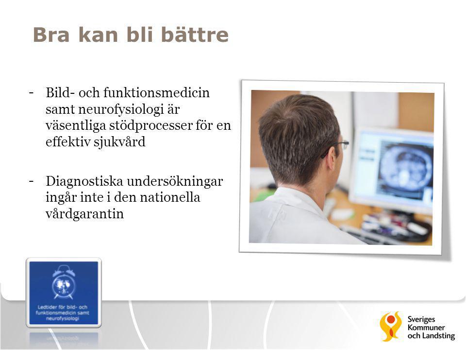 Bra kan bli bättre Bild- och funktionsmedicin samt neurofysiologi är väsentliga stödprocesser för en effektiv sjukvård.