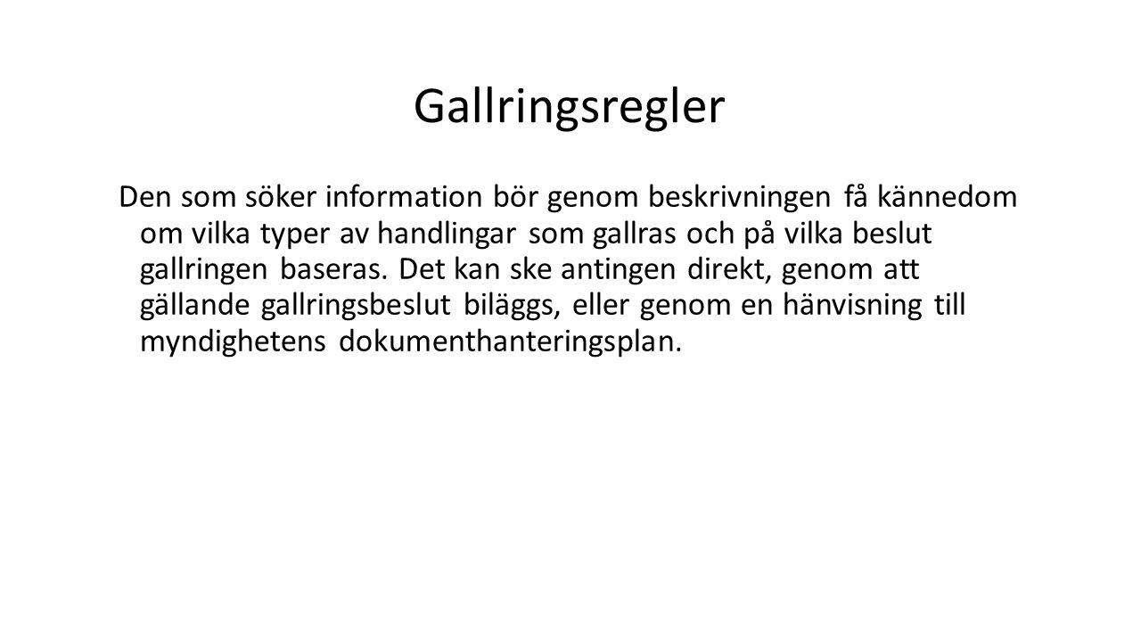 Gallringsregler