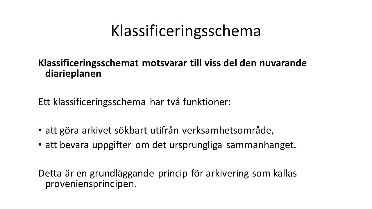 Klassificeringsschema