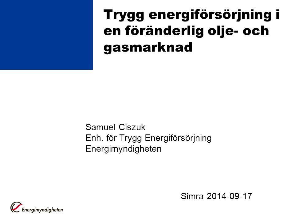 Trygg energiförsörjning i en föränderlig olje- och gasmarknad
