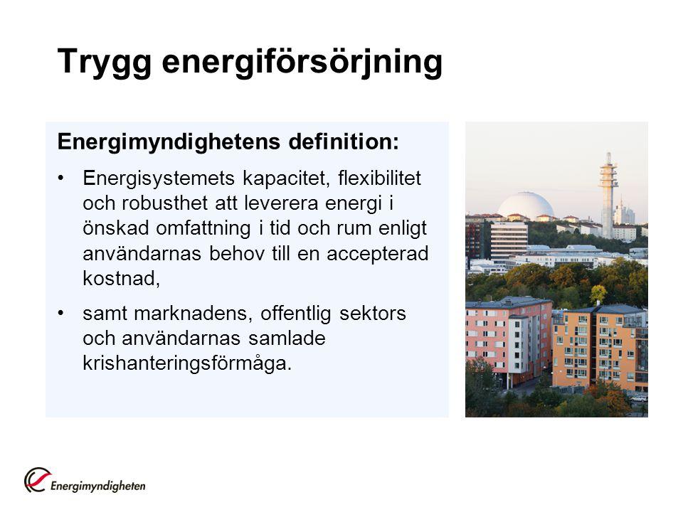 Trygg energiförsörjning