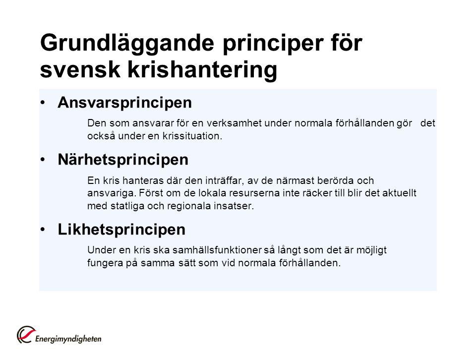 Grundläggande principer för svensk krishantering