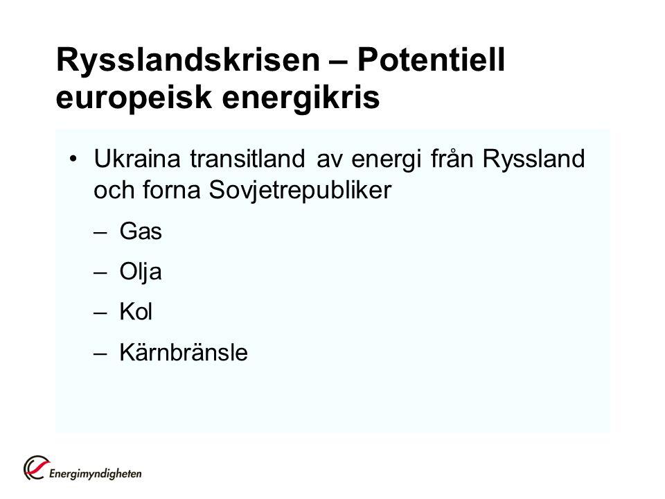Rysslandskrisen – Potentiell europeisk energikris