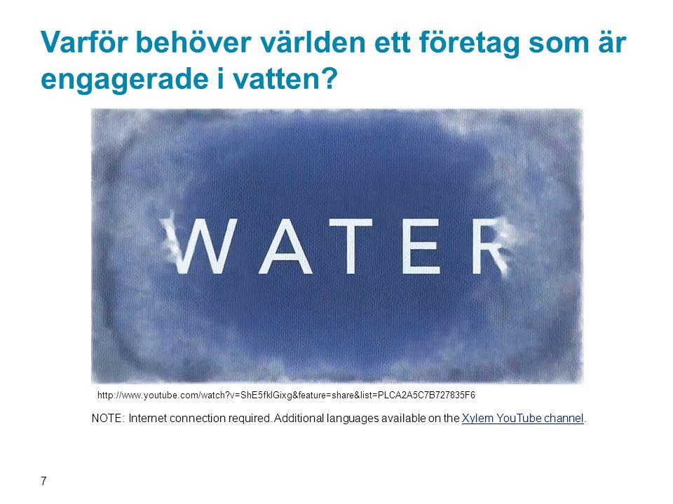 Varför behöver världen ett företag som är engagerade i vatten