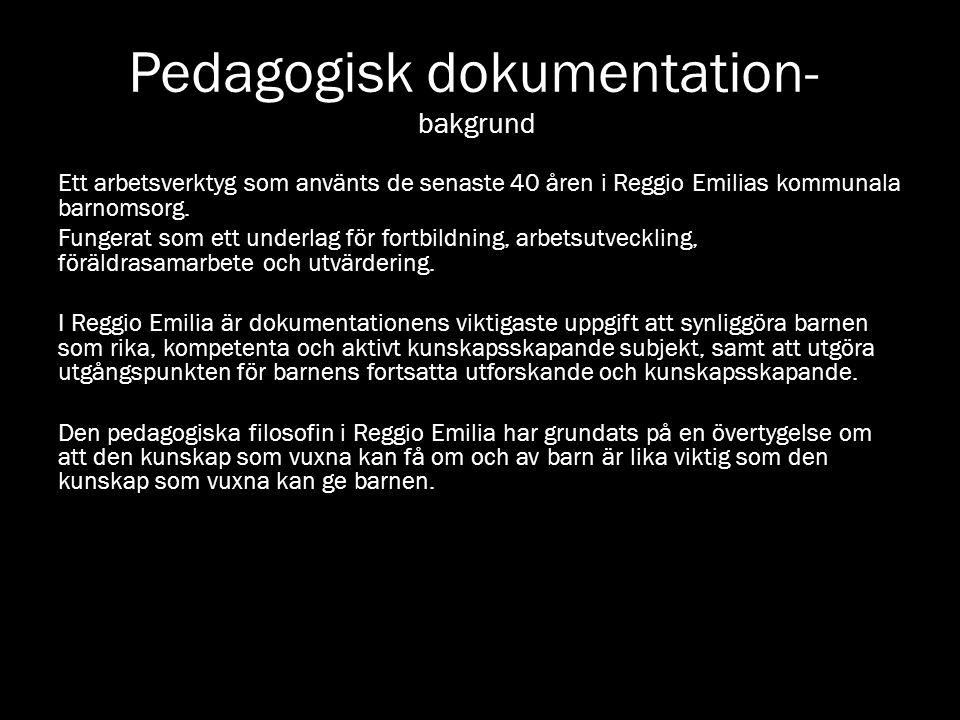 Pedagogisk dokumentation- bakgrund