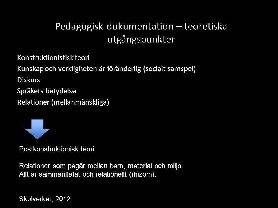 Pedagogisk dokumentation – teoretiska utgångspunkter