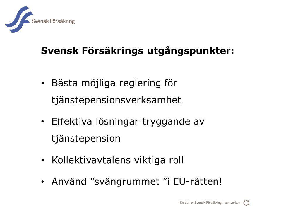 Svensk Försäkrings utgångspunkter: