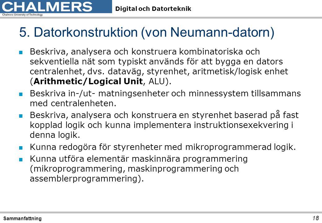 5. Datorkonstruktion (von Neumann-datorn)