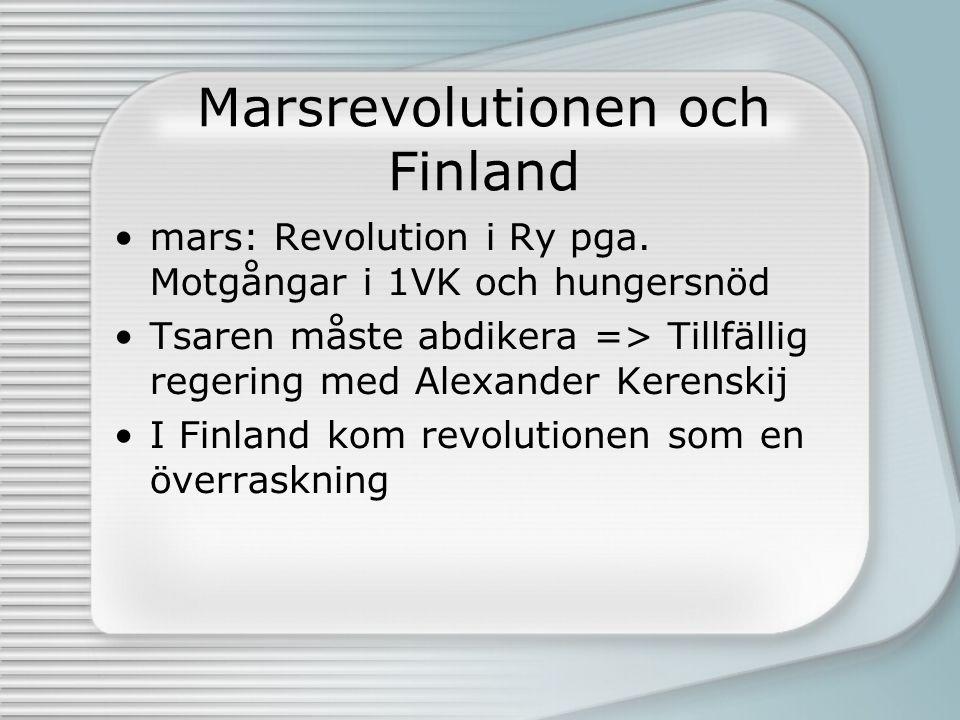 Marsrevolutionen och Finland