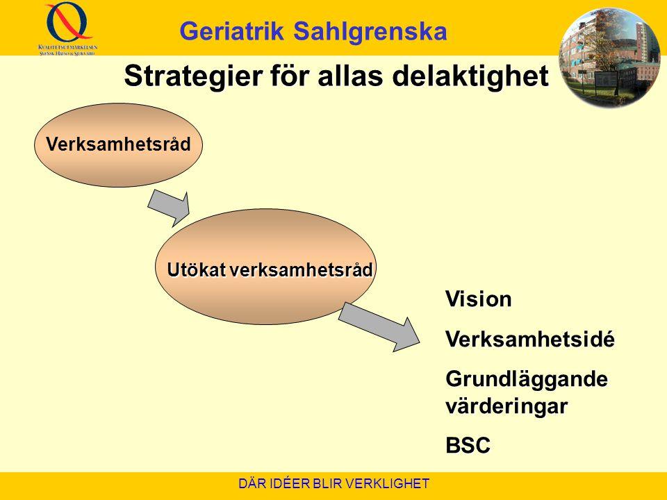 Geriatrik Sahlgrenska Strategier för allas delaktighet