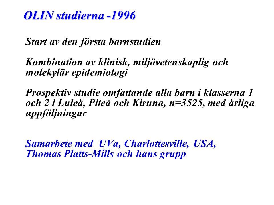 OLIN studierna -1996 Start av den första barnstudien