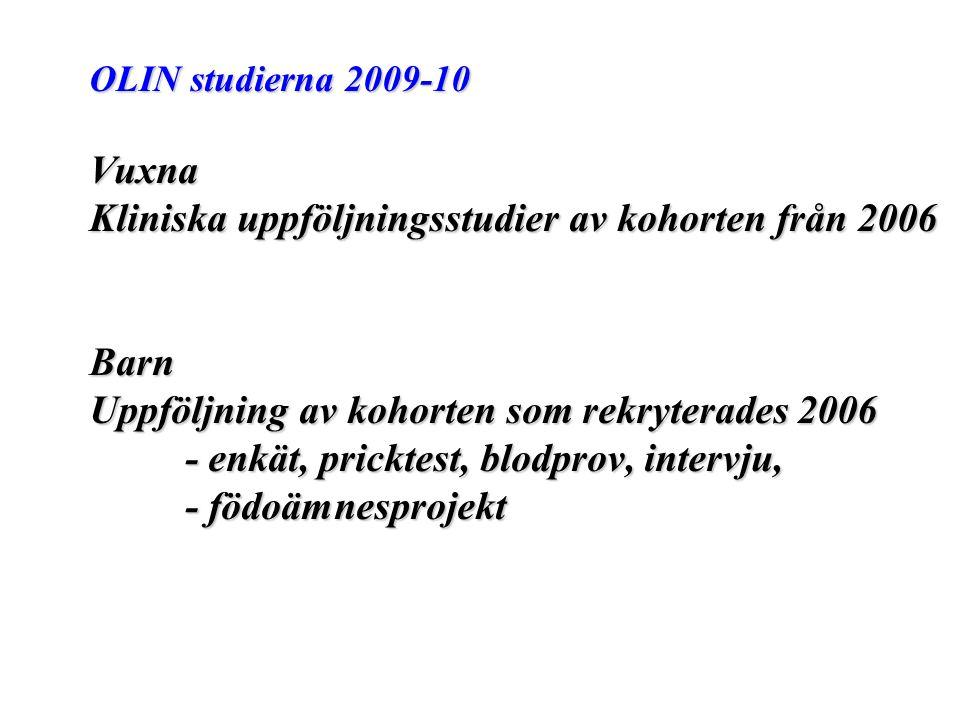 Kliniska uppföljningsstudier av kohorten från 2006