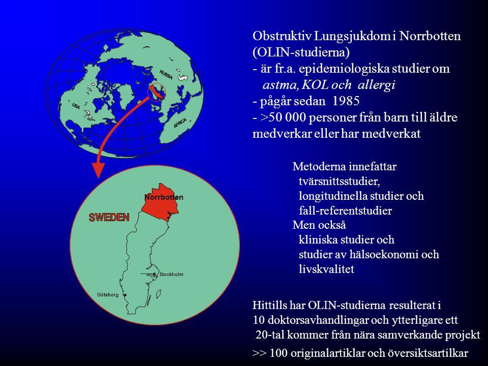 Obstruktiv Lungsjukdom i Norrbotten (OLIN-studierna)