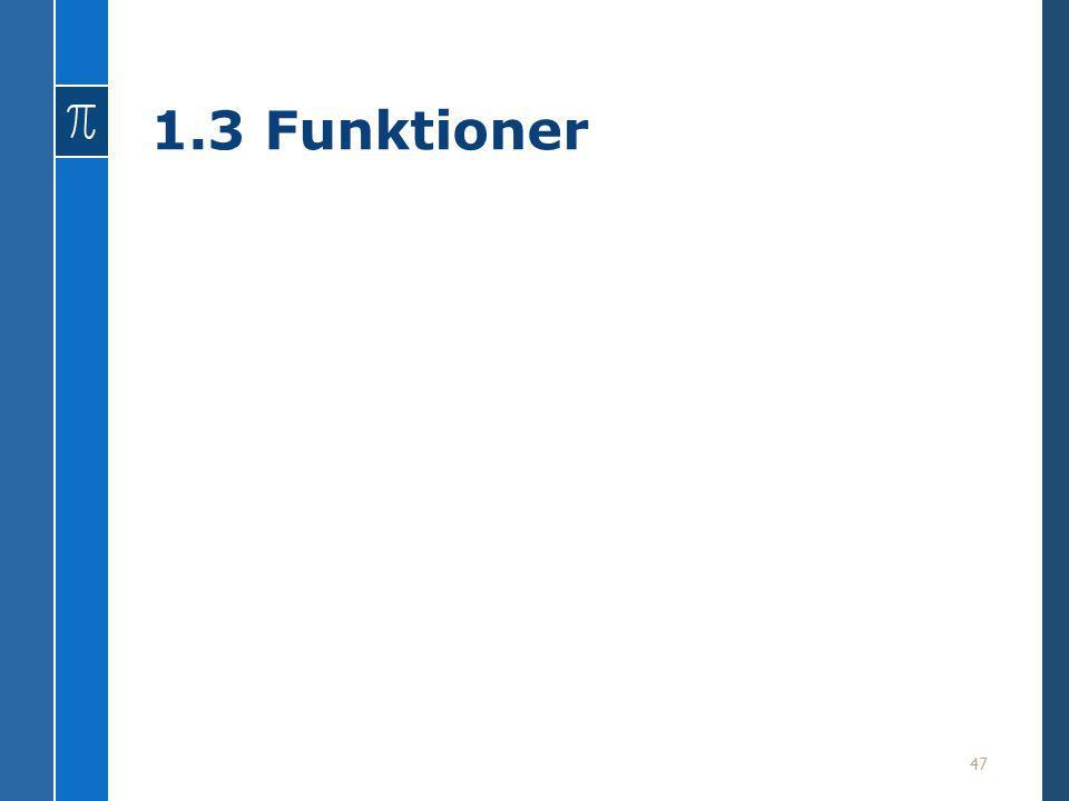 1.3 Funktioner