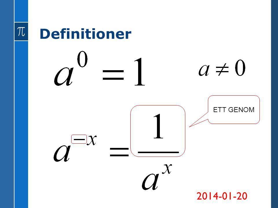 Definitioner ETT GENOM 2014-01-20