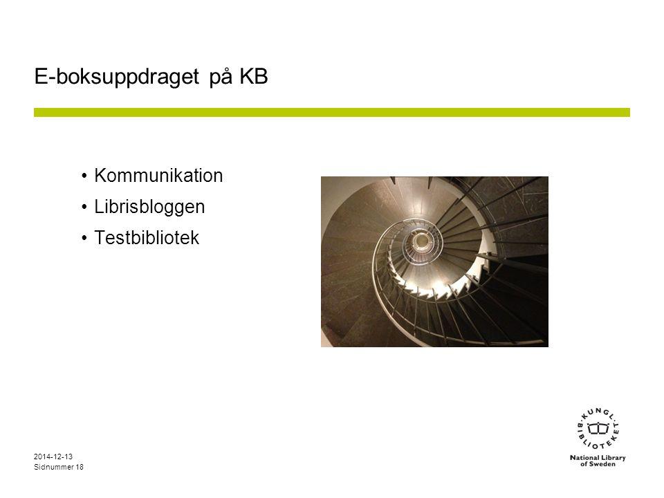 E-boksuppdraget på KB Kommunikation Librisbloggen Testbibliotek