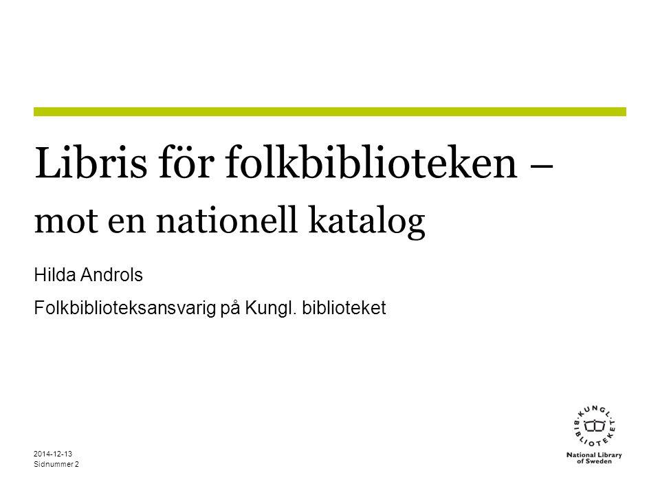 Libris för folkbiblioteken – mot en nationell katalog