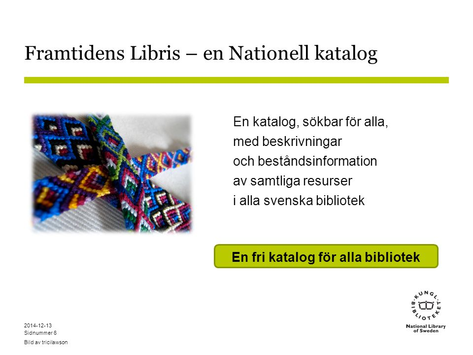 Framtidens Libris – en Nationell katalog