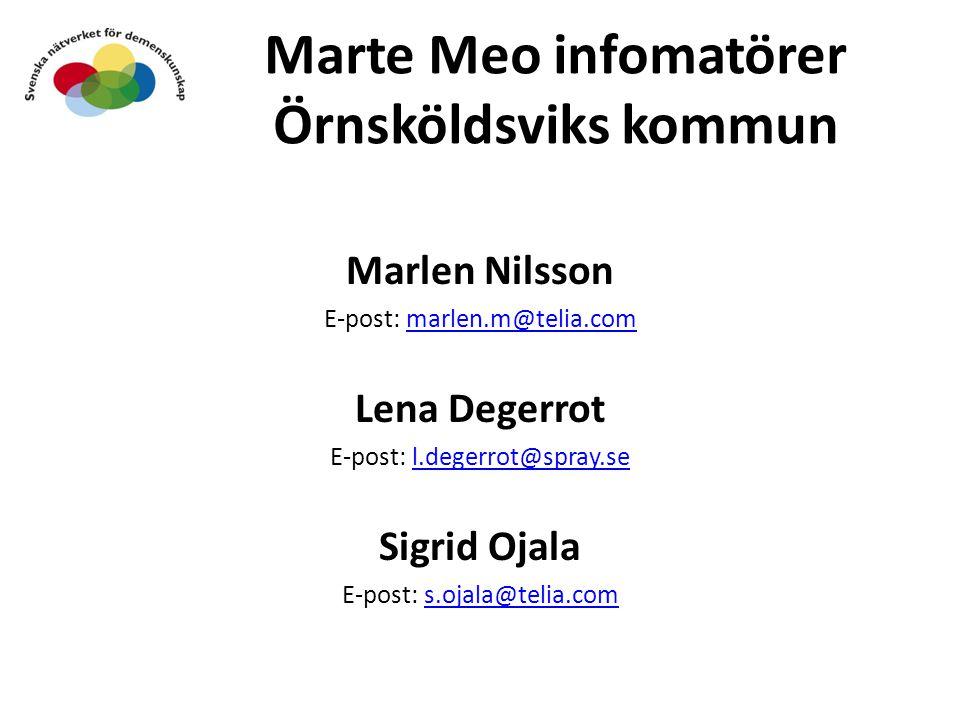 Marte Meo infomatörer Örnsköldsviks kommun