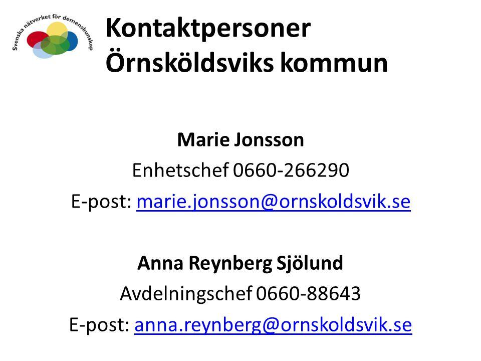 Kontaktpersoner Örnsköldsviks kommun