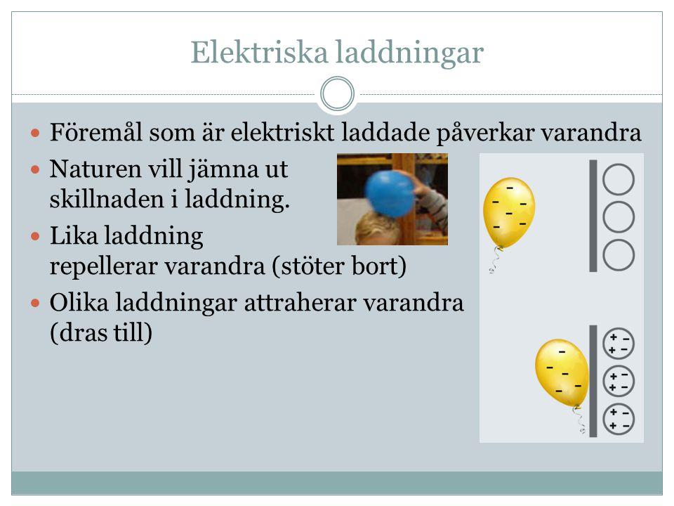Elektriska laddningar
