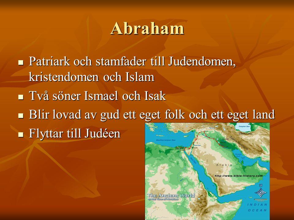 Abraham Patriark och stamfader till Judendomen, kristendomen och Islam