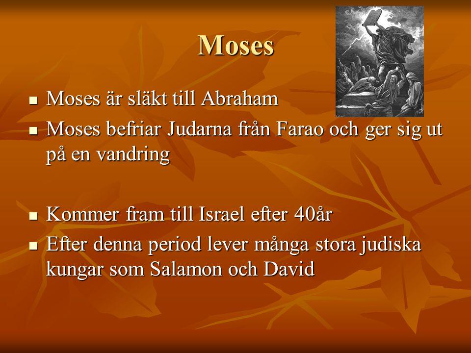 Moses Moses är släkt till Abraham