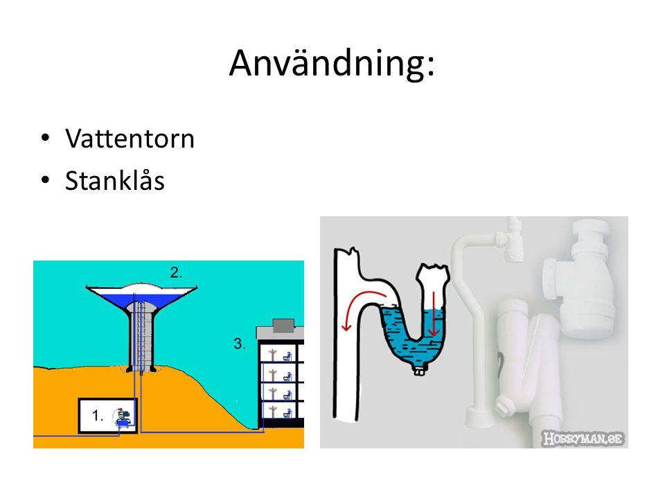 Användning: Vattentorn Stanklås