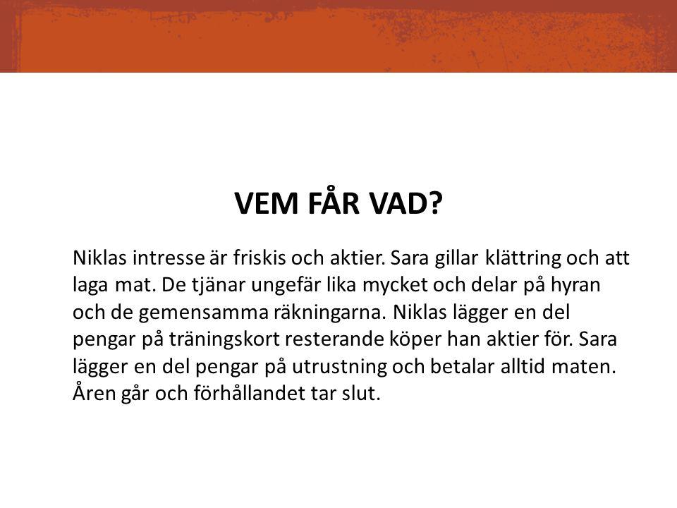 VEM FÅR VAD