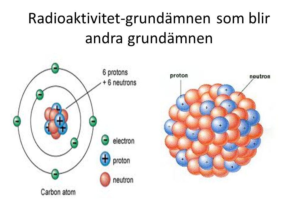 Radioaktivitet-grundämnen som blir andra grundämnen