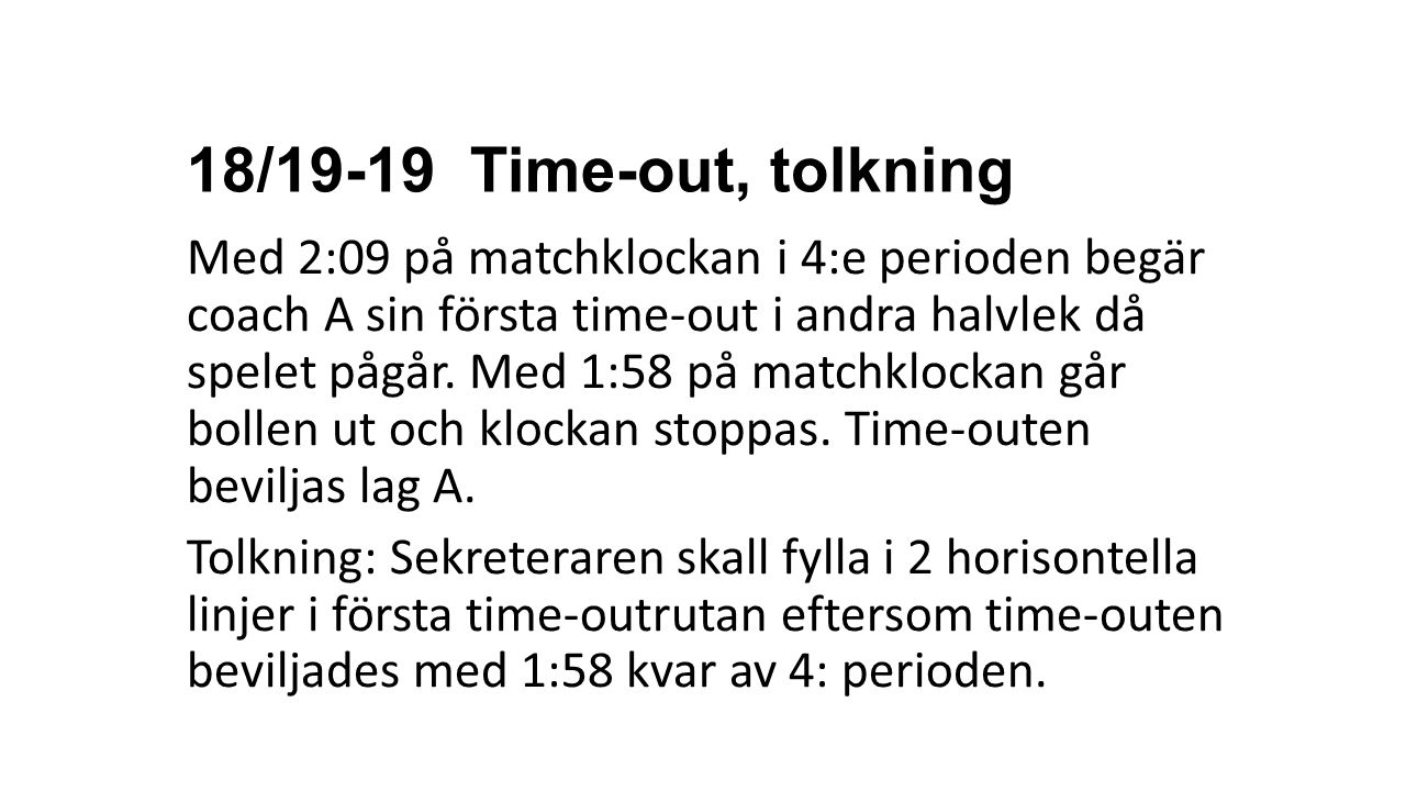 18/19-19 Time-out, tolkning