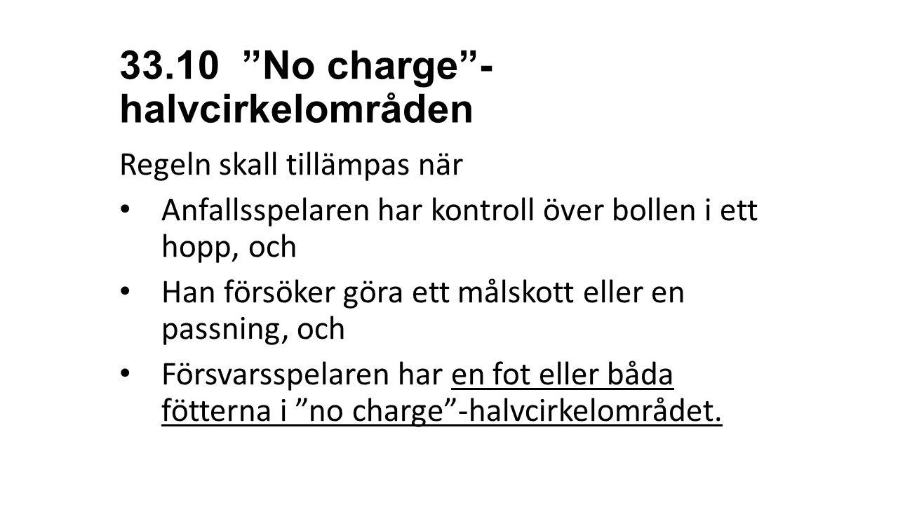 33.10 No charge -halvcirkelområden