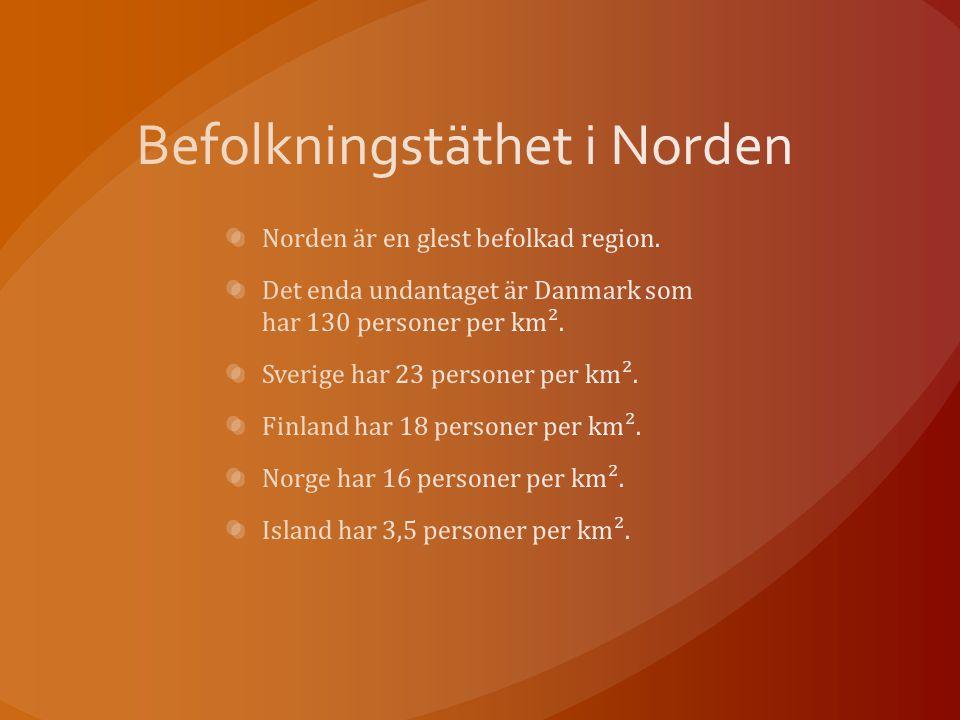 Befolkningstäthet i Norden