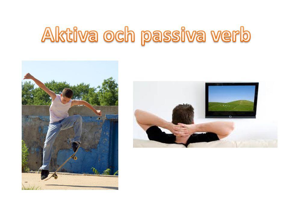 Aktiva och passiva verb