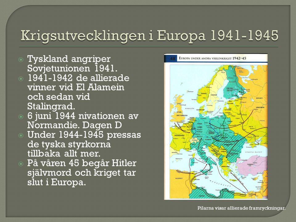 Krigsutvecklingen i Europa 1941-1945