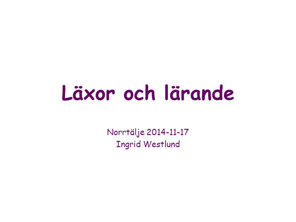 Norrtälje 2014-11-17 Ingrid Westlund