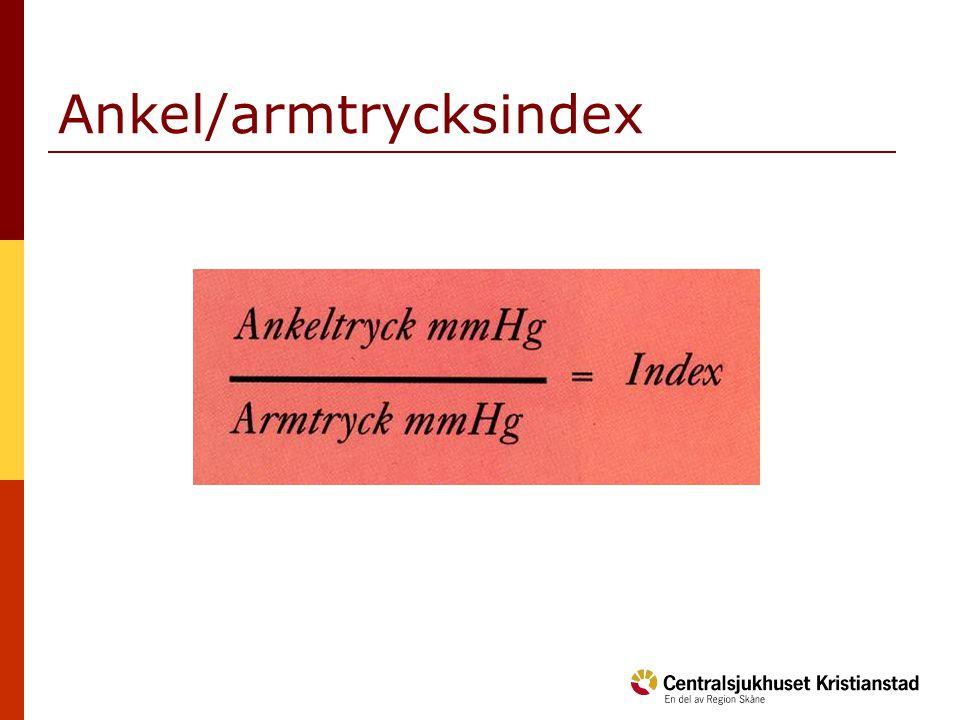 Ankel/armtrycksindex
