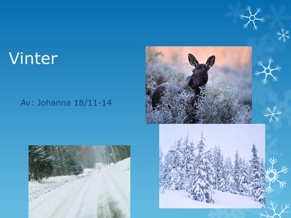 Vinter Av: Johanna 18/11-14