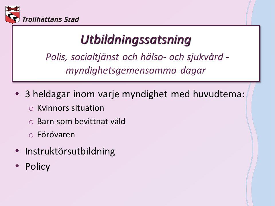 Utbildningssatsning Polis, socialtjänst och hälso- och sjukvård - myndighetsgemensamma dagar