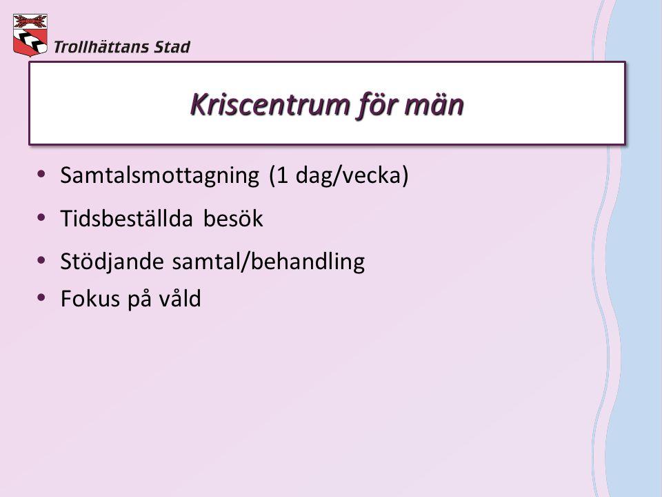 Kriscentrum för män Samtalsmottagning (1 dag/vecka)