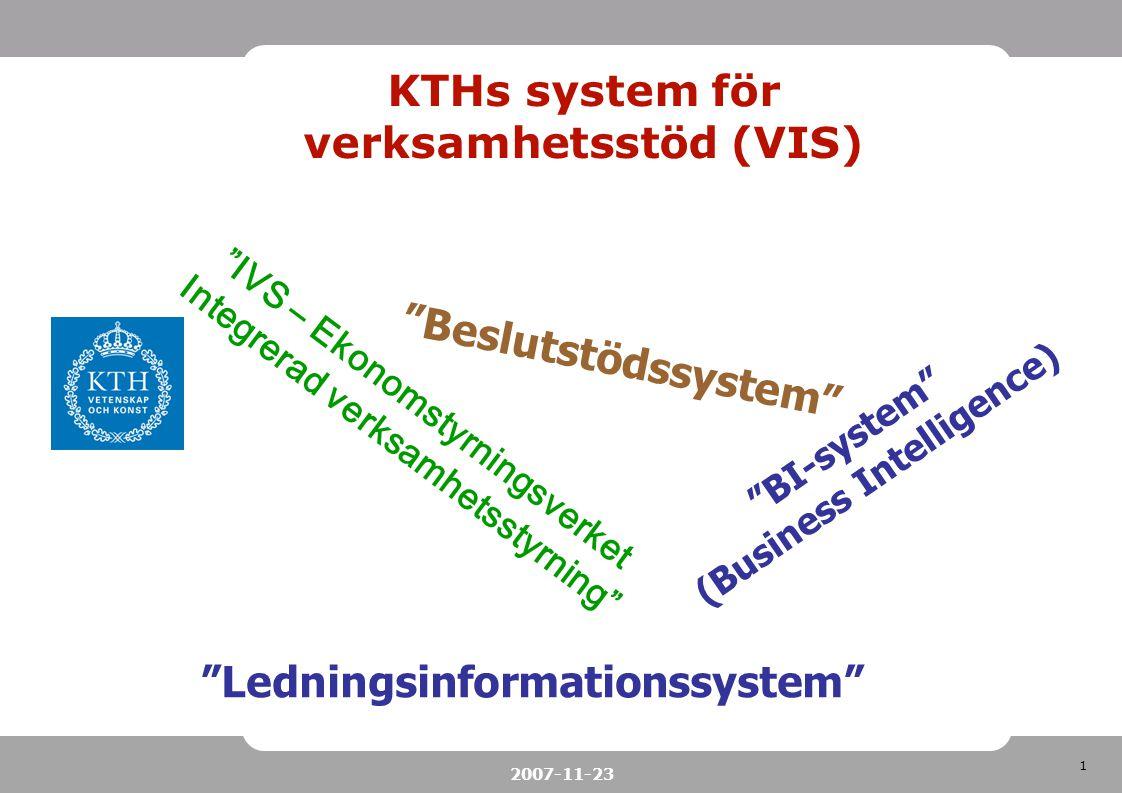 KTHs system för verksamhetsstöd (VIS)