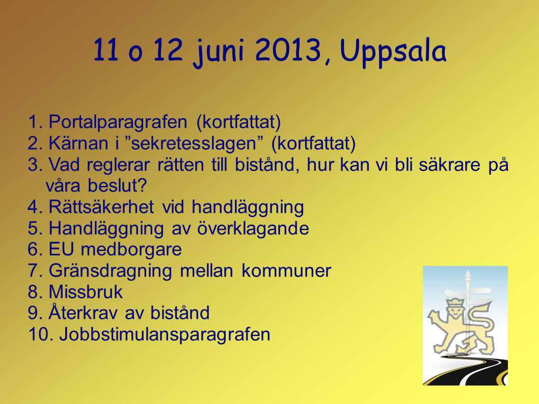 11 o 12 juni 2013, Uppsala 1. Portalparagrafen (kortfattat)