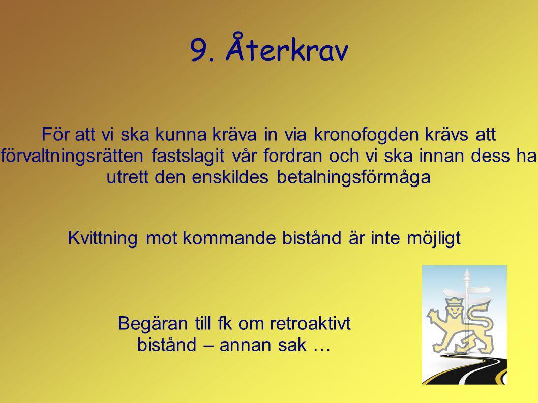 9. Återkrav