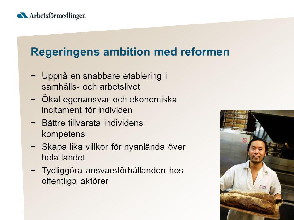 Regeringens ambition med reformen