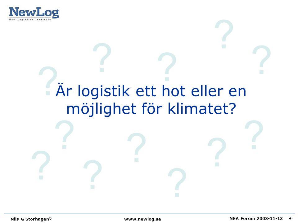Är logistik ett hot eller en möjlighet för klimatet