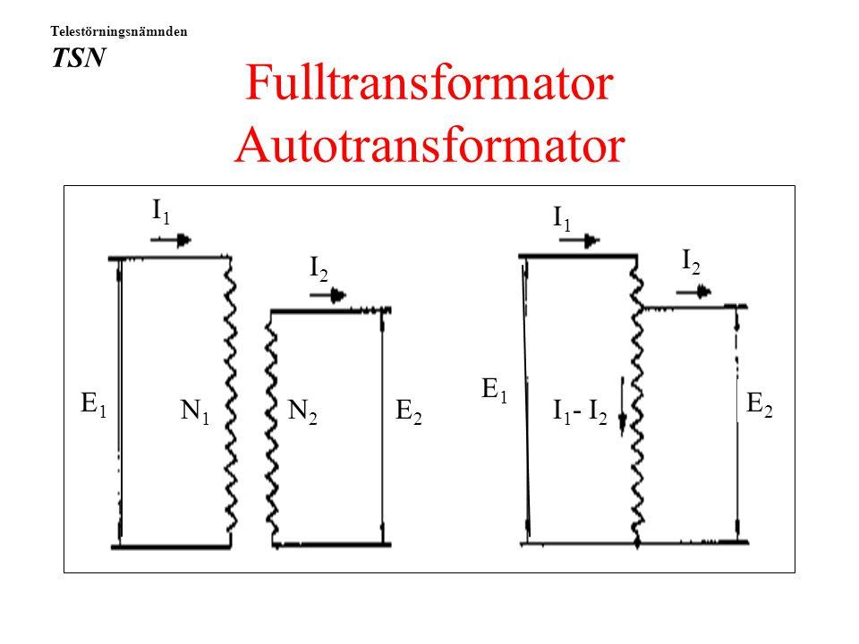 Fulltransformator Autotransformator