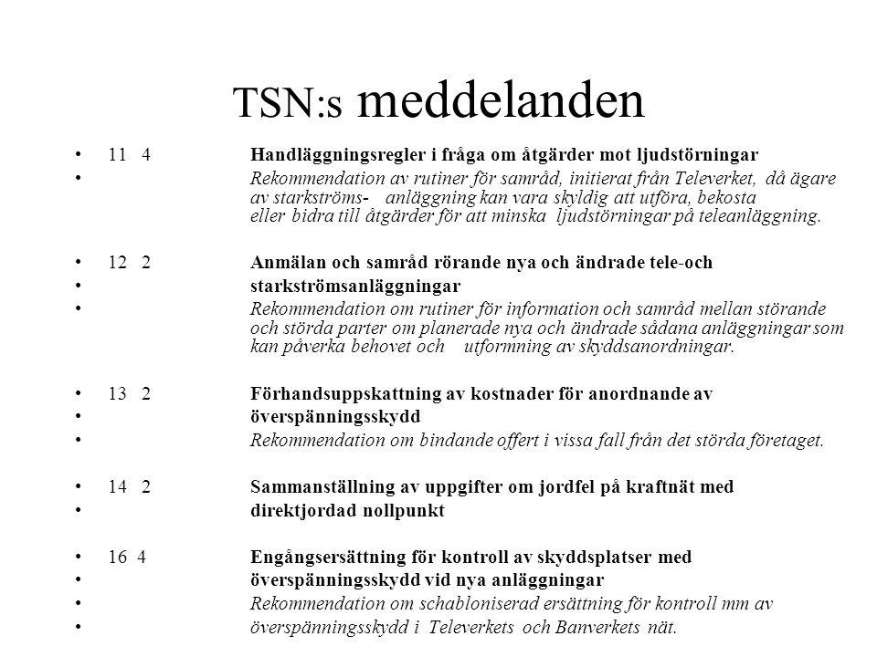 TSN:s meddelanden 11 4 Handläggningsregler i fråga om åtgärder mot ljudstörningar.
