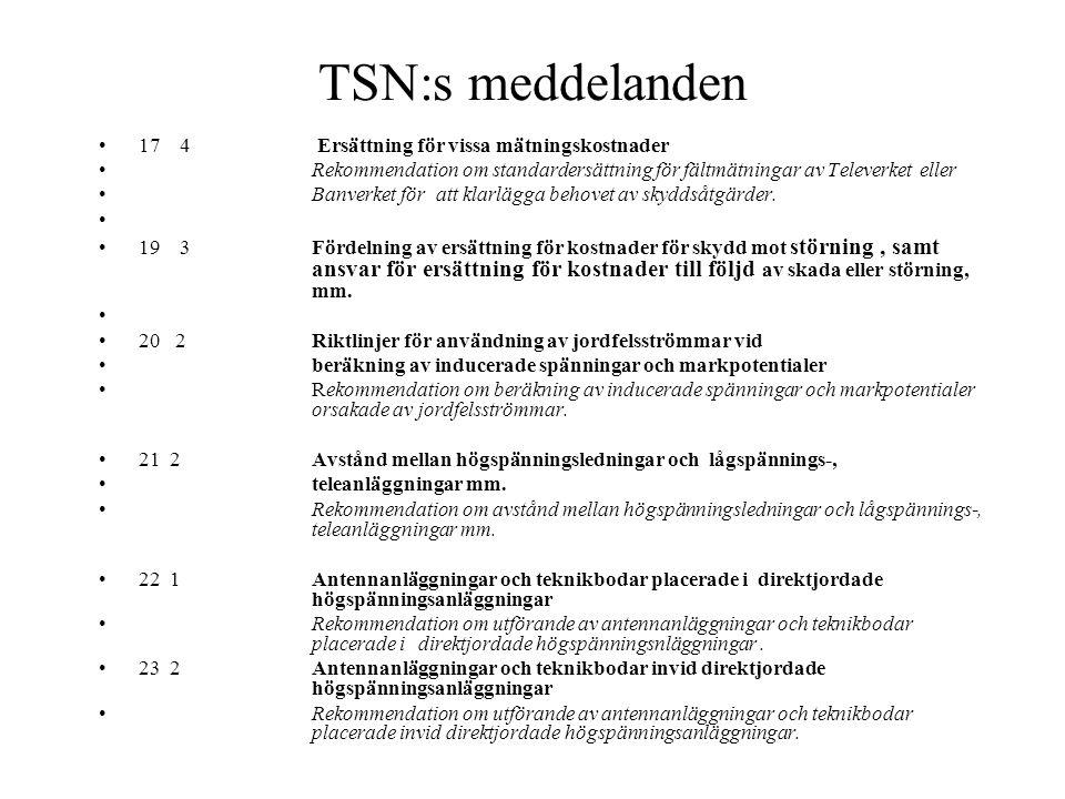 TSN:s meddelanden 17 4 Ersättning för vissa mätningskostnader