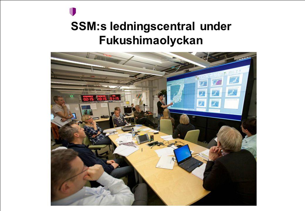 SSM:s ledningscentral under Fukushimaolyckan
